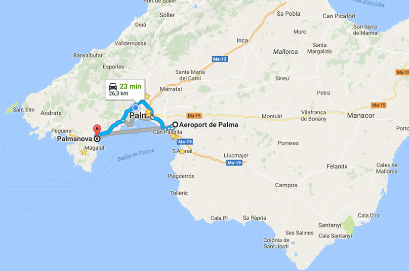 Transfers from Palma to Palma Nova