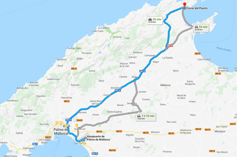 Transfers to Puerto Pollensa from Palma airport